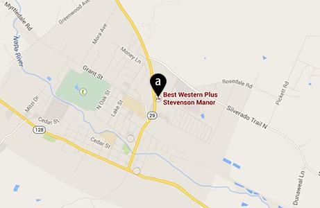 Contact to BEST WESTERN PLUS Stevenson Manor, Calistoga