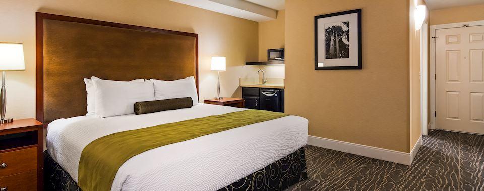 Calistoga BEST WESTERN PLUS Stevenson Manor Classic King Bed Room